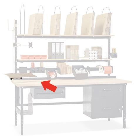 Tastatur- und Mausablage, schwenk- und neigbar, inklusive Aluträger