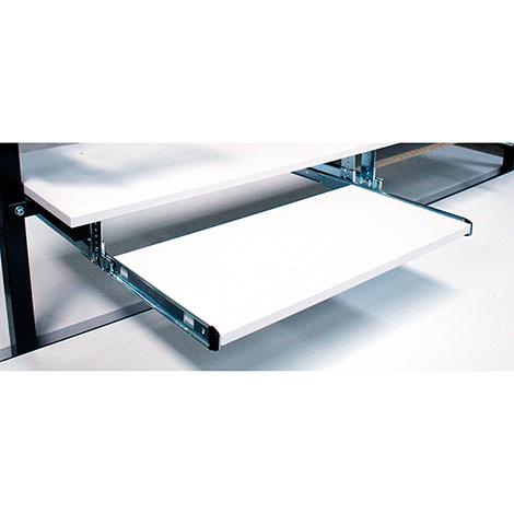 Tastaturschublade + Mausablage, ausziehbar