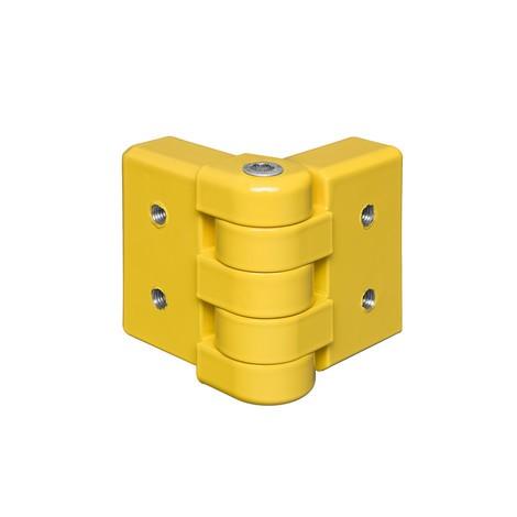 Tavola angolare orientabile per barriere protettive, profilo a C