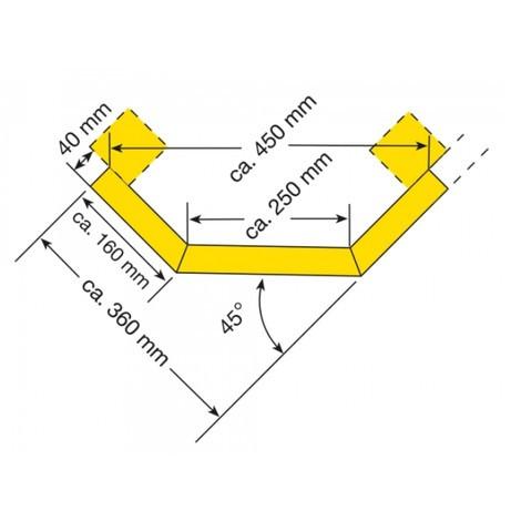 Tavole protettive con profilo a C, tavola angolare
