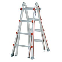 Telescopische ladder HYMER, 3-in-1 met scharnier