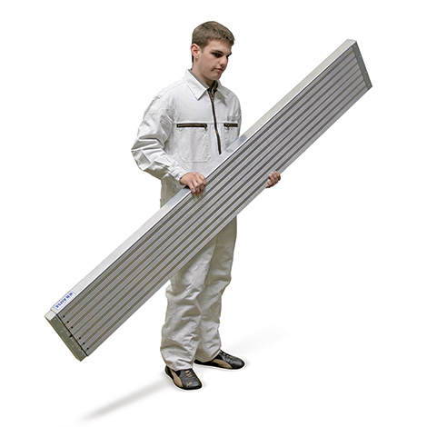 Teleskop-Bohle aus Aluminium. Tragkraft 150 kg