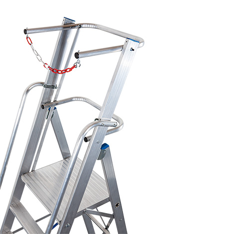 Teleskop Plattformleiter, höhenverstellbar, große Arbeitsplattform.