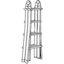 Teleskop-Sprossen-Stehleiter HYMER ® Telestep