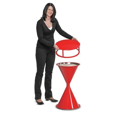 Telhado para pedestal de pé cinzeiro VAR® CLASSIC, plástico