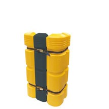Tension belt for pillar impact protection, flexible