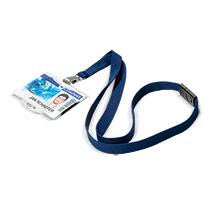 Textilband Soft mit Sicherheitsverschluss für Betriebsausweise, 2 Farben zur Auswahl