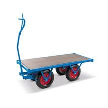 Těžký ruční plošinový vozík s plochou ložnou plochou