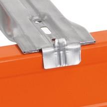 Tiefenauflage für Palettenregal SCHULTE Typ S, zur Auflage von Spanplatten