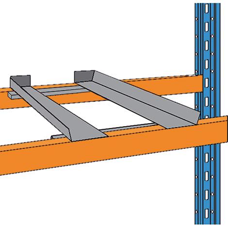 Tiefenauflagen für das  Palettenregal Typ S