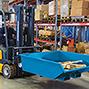 Tiefliegender Kippcontainer automatisch, Vol. bis 1 m³. Tragkraft 1500 kg