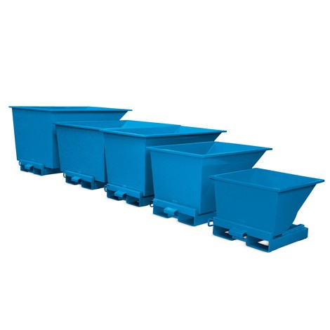 Tippcontainer med automatisk frigöring