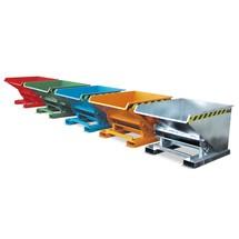 Tippcontainer med rullmekanik, lackerad, volym 0,6 m³