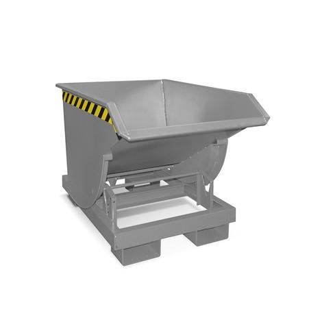 Tippcontainer med rullmekanism premium, djup design, lackerad, utan lock, volym 0,5 m³