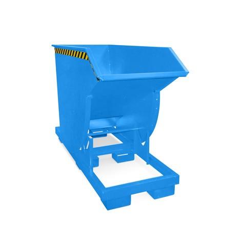 Tippcontainer med rullmekanism premium, djup design, lackerad, utan lock, volym 0,75 m³