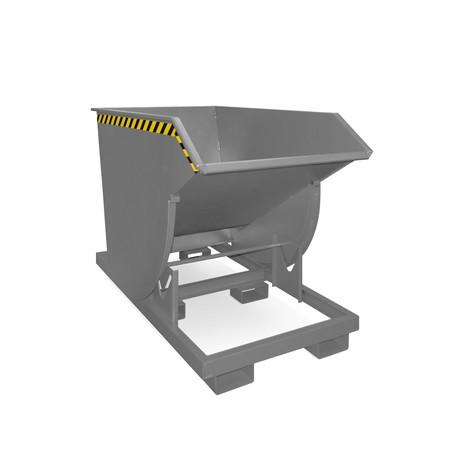 Tippcontainer med rullmekanism premium, djup design, lackerad, utan lock, volym 1 m³