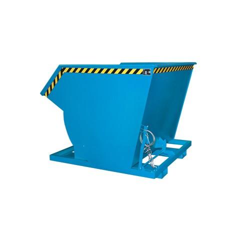 Tippcontainer med rullmekanism premium, djup design, lackerad, utan lock, volym 2 m³