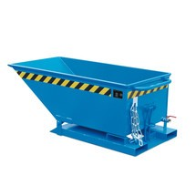 Tipping chip container, low body, painted, volume 0.4 m³