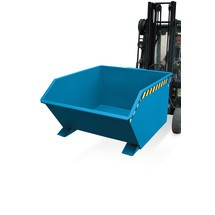 Tipping container, low height, painted, volume 1 m³