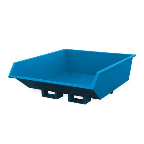 Tipping container, reduced height
