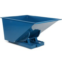 Tipping container with automatic emptying