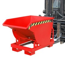Tipping container with premium rolling mechanism, deep body, painted, without cover, volume 0.3 m³