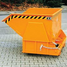 Tipping container with premium rolling mechanism, wide body, painted, without cover, volume 0.8 m³