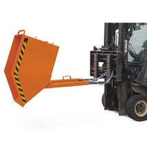 Tipping skip, box-shaped body, painted, volume 0.8 m³