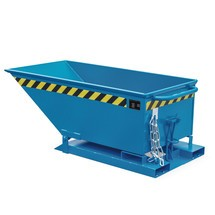 Tipping skip, low body, painted, volume 0.25 m³