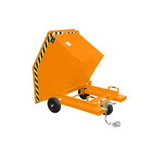 Tipping skip, with chassis + fork pockets, volume 0.4 m³