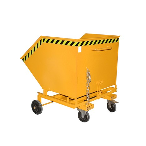 Tipping skip, with chassis + fork pockets, volume 1 m³