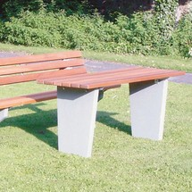Tisch Stockholm, PVC-Latten mit Holzeinlage, BxT 1.500 x 640 mm
