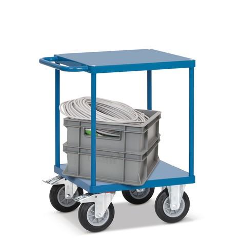 Tisch- und Montagewagen fetra® mit Stahlblechböden