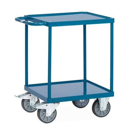 Tischwagen 2 Etagen Stahlblechwannen Tragkraft 500 kg // BxT 600 x 600 mm