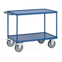 Tisch- und Montagewagen fetra® mit Stahlblechwannen