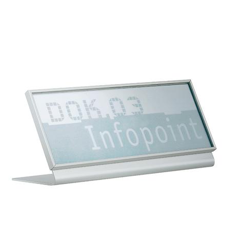 Tischaufsteller zu New Age Türschild quer BxHxT 147x67x54mm