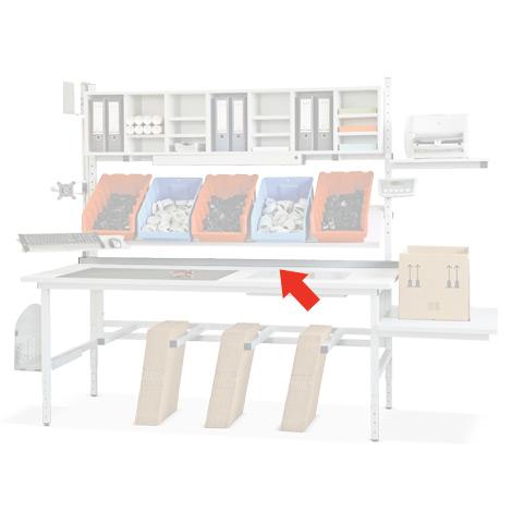 Tischbegrenzung für Packtisch 1600mm