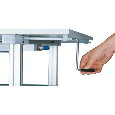 Tischhöhenverstellung mit Kurbel