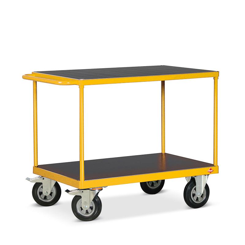 Tischwagen Ameise® mit 2 Holzböden. Tragkraft bis 500 kg