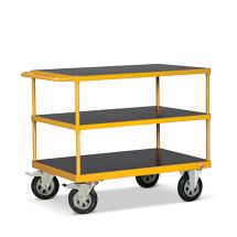 Tischwagen Ameise® mit 3 Holzböden. Tragkraft bis 500 kg