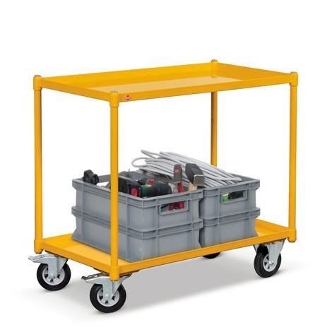 Tischwagen Ameise® mit Stahlwannen, Tragkraft 250 kg