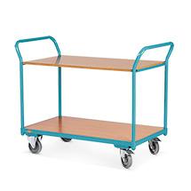 Tischwagen Ameise®. Tragkraft 200 kg. 2 Ladeflächen aus Holzwerkstoffplatte