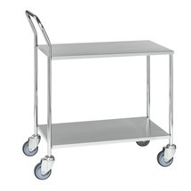Tischwagen aus Edelstahl