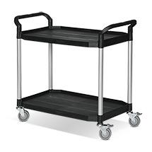 Tischwagen BASIC aus Polypropylen mit 2 Ladeflächen
