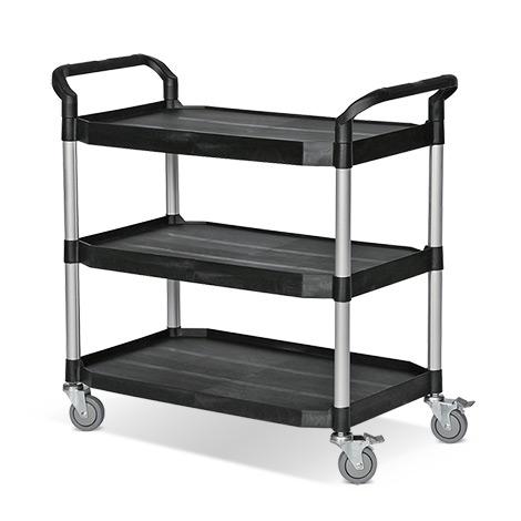 Tischwagen BASIC aus Polypropylen mit 3 Ladeflächen