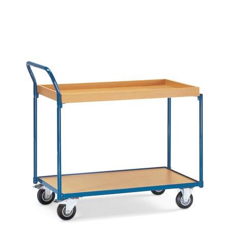 Tischwagen fetra®, 1 Holzboden + 1 Holzkasten