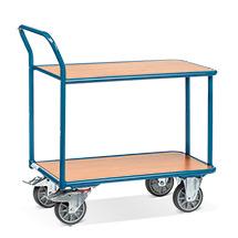 Tischwagen fetra®. 2 Holzböden + 1 Schiebebügel, Tragkraft 400kg
