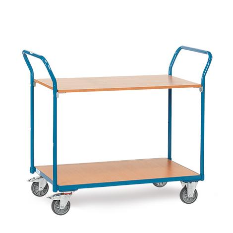 Tischwagen fetra® mit 2 Holzböden. Tragkraft 200kg, Höhe 103,3m