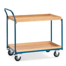 Tischwagen fetra® mit 2 Holzkästen. Höhe 1,02 m