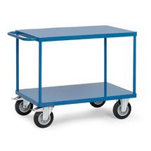 Tischwagen fetra® mit 2 Stahlblechböden. Tragkraft bis 500 kg